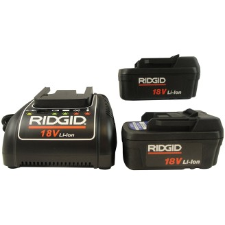 Set of 2 18V Advanced Lithium Batteries & 1 Charger (230V)